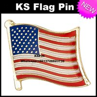 Wholesale the U S A Metal Flag Badge Flag Pin