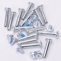 Wholesale Wholesale Axle Parts - Wholesale- Free Shipping Roller Skates Parts Axle Male And Female Screws For Child Kid Or Adult Free Skating Inline Skates 3.1cm