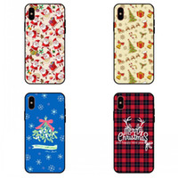 Wholesale Fluorescence Christmas Lighting - For apple iphone x case iphone 8 7 plus iphone 6S TPU box personality Merry Christmas gift cell phone protective cases
