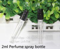 Wholesale Essential Oil Spray Glass Bottle - 2ml Perfume spray glass bottle with Atomization lid be used for essential oils and perfume liquid bottles high quality made in china 500PCS