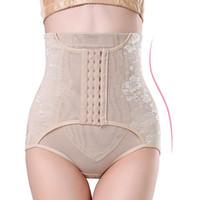 Wholesale Panty Enhancer - High Waist Trainer Tummy Control Panties Butt Lifter Body Shaper Corsets Hip Abdomen Enhancer Shapewear Underwear Panty Hooks