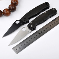 Wholesale Lock Blade Pocket Knives - SPIDER c81 carbon fiber back lock camping knife Hunting Folding Pocket Knife Xmas gift KNIFE 1pcs sample freeshipping