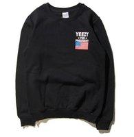 Wholesale Cheap Sweatshirts For Men - Kanye West Sweatshirt YEEZUS For President Casual Men Sweatshirt Long Sleeve 1:1 Harajuku Cheap Free Shipping YEEZUS Sweatshirt