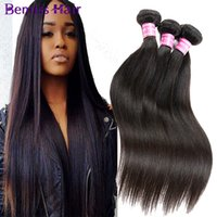Wholesale Brazilian Straight Hair Weave Sale - On Sale Straight Virgin Hair Bundles Brazilian Malaysian Peruvian Cambodian Mongolian Indian Human Hair Weaves Natural Color by Bemiss Hair