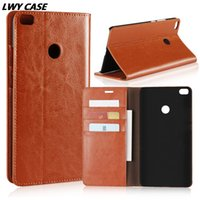 Wholesale Xiaomi Flip Cover - For Xiaomi Mi Max 2 Max2 6.44 inch 100% Luxury Genuine Leather Case Retro Wallet Flip Cover With Card Slots Stand Holder