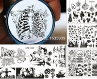 Wholesale Nail Stamp Halloween - Wholesale- Halloween Plate Christmas Nail Art Stamping plate Nail Template Holiday nail stamp Christmas SPH series