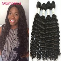 Wholesale Mongolian Remy Hair Sale Cheap - Glamorous Cheap Human Hair Virgin Peruvian Malaysain Brazilian Hair Weave 4 Bundles 8 to 34inches Deep Wave Indian Hair Extensions for sale