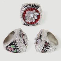 regalos chicago al por mayor-2013 Chicago Blackhawks Stanley Cup Championship Ring for Men Anillo de bodas a la venta, fanáticos del deporte regalo anillo de la joyería