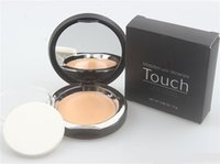 Wholesale Mineral Cream Makeup - Younique Touch Base Mineral Foundation Eclat Primer Waterproof 10 Color Makeup Face Conscealer Highlighter Skin Perfecting Stick With Puff