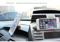 Wholesale Mobile Phone Brackets - Multifunctional holder magnetic bracket 360 degree rotating mobile phone rack mobile phone multi function energy magnet bracket car holder