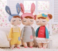 Hot Sale Véritable Metoo Angela Lapin Poupées Bunny Baby Peluche Jouet Cute Lovely Stuffed Jouets Enfant Birthday Girls / Cadeau De Noël