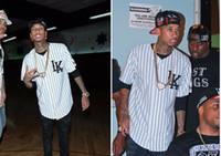 Wholesale Tyga Style Clothes - Summer Style Mens T shirts Fashion 2017 Streetwear Hip Hop baseball jersey striped shirt Men Clothes tyga last kings Clothing