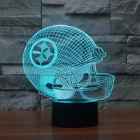Wholesale Helmets For Halloween - Free Shipping 3D led light on helmet football shape Slong light gifts for child toy
