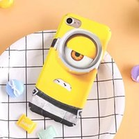 Wholesale Despicable Hard Case Iphone - 3D Cartoon Despicable Me Yellow Minions Case Cover Hard PC Material Case For iPhone 7 7 Plus 6 6S Plus