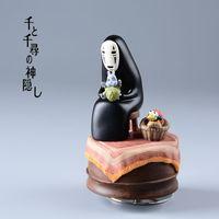 Wholesale Action Figure Anime Resin - Studio Ghilbli Kaonashi Action Figures Miyazaki Hayao Spirited Away Music Box No Face Resin Figurine Kids Toys Anime Figure