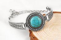 Wholesale Arrow Bracelet Bangle - The explosion of circular Turquoise bracelets flower bracelet Bracelet Silver Arrow Thai auspicious clouds jewelry trade