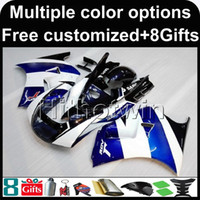 Wholesale Motorcycle Plastic Pink - 23colors+8Gifts BLUE white motorcycle cowl for Suzuki RGV250 VJ22 1991-1996 VJ22 1991 1992 1993 1994 1995 1996 ABS Plastic Fairing