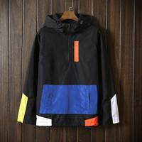 abrigo de moda de los hombres s al por mayor-Al por mayor-Nueva tendencia Primavera Otoño hombres Pullover Patchwork chaquetas para hombres jaqueta Windbreaker moda masculina chaquetas de turismo a prueba de viento