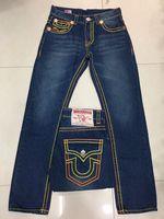 Wholesale Hot Bleach - Free Shipping Good quality NEW hot Men's Robin Rock Revival Jeans Crystal Studs Denim Pants Designer Trousers Men's size 30-40