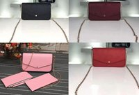 Wholesale Pocket Parts - Women M64065 Pochette Félicie,Empreinte Genuine Leather,2 Removable Parts,come with dust bag and Box,Free Shipping
