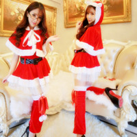 01ccf23db2a Womens Santa Claus Christmas Costume Cosplay XMAS Outfit Fancy Dress Hot  Sale