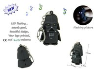 Wholesale Black Knight Led Lights - Black knight Key Chain Ring with LED Light and Sound Child Kid Toy gift
