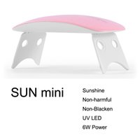 Wholesale Gel Nails Home - Wholesale- SUNmini UV LED Lamp Nail Dryer 6W Portable USB Cable for Nail Dryer Gift Home Use Gel Nail Polish Dryer