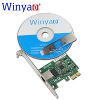 Wholesale intel ethernet pci - Wholesale- Winyao WY1000T1 PCI-E X1 10 100 1000M RJ45 Gigabit Ethernet Network Card Server Adapter Nic For Intel 82574L EXPI9301CT 9301CT
