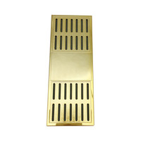 Wholesale Humidifier Cigars - New Arrival Rectangular Smoking pipe Cigar Humidor Good Quality Gold Color Tobacco Humidifier Tobacco Moisture Strip