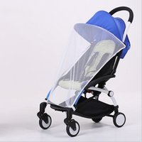 Wholesale Twins Strollers Newborn - Wholesale- New Summer Newborn White Gray Density Anti-Mosquito Nets Twin Baby Stroller Children's Stroller Baby Car Trolley Special Nets