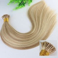 8A Two Tone Dip Dye Piano Hair 12 # 613 # 100Strands I Stick tip Hair Pre-bonded Brazilian Remy Human Hair Extension