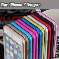 Wholesale Thin Leather Bumper - For iPhone7 7 Plus Case Aluminium Metal Bumper Frame Case Cover for iPhone 7 plus Ultra Thin Slim case For iphone 7G Bumper Case