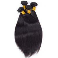 Barato Teia Pacote Dhgate-8a Unprocessed Brazilian Hair Bundles Peruvian Malaysian Indian Virgin Straight Human Hair Weave Extensions Atacado Dhgate Hot Daily Deals