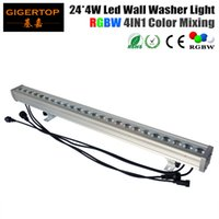 Wholesale dmx stage light bar - TIPTOP High Quality 24*4W Outdoor Led Wall Washer Light RGBW Led Bar Light DMX Mode,Led Stage Light Waterproof IP65 90V-240V