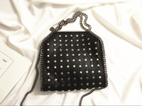 Wholesale Pictures Stars - 2017 TOP quality metal Star Falabella Shaggy Deer pvc crossbody 3 Chain Shoulder Bags real picture 25 x 26 x 10cm