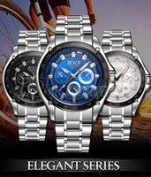 Wholesale Diamond Series - Fashion Men Luxury Watch Elegant Series Sport Noctilucence Daily Waterproof 30 Meter Waterproof Black Diamond Stainless Steel Watchband