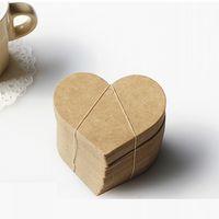 ingrosso tag bella-A forma di cuore carta di carta kraft favore di nozze tag regalo fai da te tag etichetta prezzo favore del partito segnalibro carte belle 0 03xl J