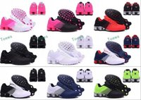 Wholesale Hot Pink Womens Shoes - 2017 New arrival Hot Sale Famous Shox Deliver Mens Womens Athletic Sneakers Sports Running Shoes Size 5.5-12 Drop Shipping