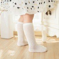 Wholesale Girls Legs Stockings - 2017 Baby Girls Socks Summer Fashion Toddler fishnet stockings hollow out Kids Socks legs sweet princess Children stocks C1244