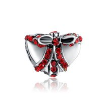 Wholesale Box Fit European Beads - Wholesale Fits Pandora Charm Bracelet Christmas Heart Butterfly Gift Box Silver Beads Loose Charms For Diy European Style Snake Charm Chain