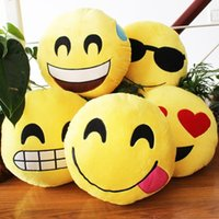 Wholesale Korea Kids Cloths - Free shipping 35*35 cm kawaii korea emoji QQ expression plush pillow cute plush toys for children birthday gift