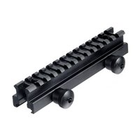 Wholesale Ar Picatinny - Tactical Rail Mount 13 slots Weaver Scope Mount Base 20mm Scope Base Flat Top AR Riser Picatinny Pistol Airsoft Hunting Caza