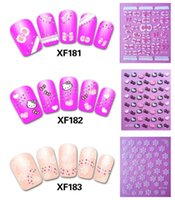Wholesale 3d Heart Nail Art Design - Fashion Flower Bow Tie Heart 3d Nail Art Stickers Decals New Arrival Korean Design Ornament for Nail