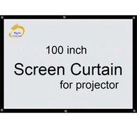 Wholesale Front Projection - Screen Curtain100 inch 16:9 or 4:3 Projector HD Screen Front projection screen fabric with eyelets for proyectr