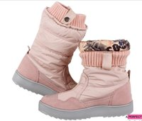 Wholesale Models Fur Snow - Explosion models leather package edge warm down feather snow boots women's boots waterproof waterproof ski boots