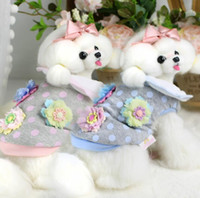 Wholesale Handmade Diapers - Lollipop Pet Products Supplies Dog Clothes Wear Apparel Hoodies Puppy Handmade Flower Dog Coat Costumes Thick Downs 7DLP45