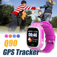 bluetooth aufspüren großhandel-Q90 Bluetooth GPS Tracking Smartwatch Touchscreen Mit WiFi LBS für iPhone IOS Android SOS Anruf Anti Lost SmartPhone Wearable Device in Box