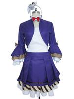Wholesale Musical Costumes - Love Live! Lovelive Musical Instrument Maki Nishikino Purple Halloween Lolita Dress Set Cosplay Costume S002