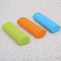 Wholesale Hot Kitchen Tool Silicone Panhandle Mitts Cover Insulation Non slip Handle Set