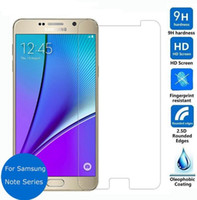 Wholesale note2 screen - Note5 Tempered Glass Screen Protector For Samsung Galaxy Note4 Note3 Note2 Note ON5 ON 7 Pro S7 9H Anti Scratch Temper Glass Protective